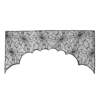 Halloween Party Decoration Lace Fireplace Spider Web Table ClothRunner - intl