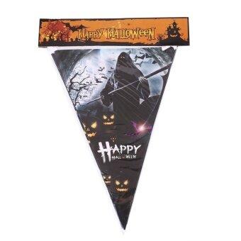 Halloween Triangle Flag Spooky Bunting Pennant Party Bar FestivalDecor 2M - intl