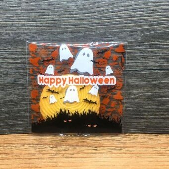 Halloween you must have it 100Pcs Halloween Party Cookies SweetCandy Biscuit Gift Self-Adhesive Bag - intl