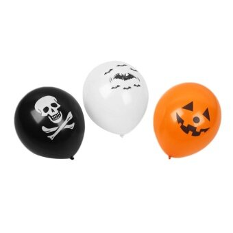 Halloween you must have it 100Pcs Halloween Pumpkin Printed DesignHome Party Decoration Supplies Balloon - intl