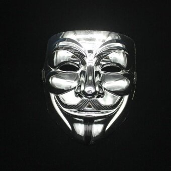 Halloween you must have it Creative Gold/Silver V for Vendetta GuyFawkes Mask Anonymous Halloween - intl