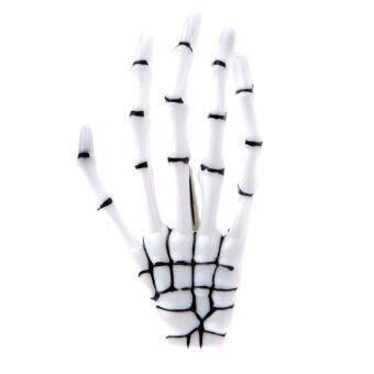 Halloween Zombie Skull Skeleton Hand Bone Claw Hairpins Hair ClipWhite A - intl