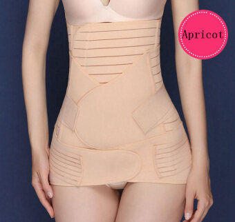 Haotom Premium 3pcs Set Haotom Body Shaper Waist Trimmer PostpartumSupport Belt Bengkung Modern Corset Girdle Belts(Apricot)