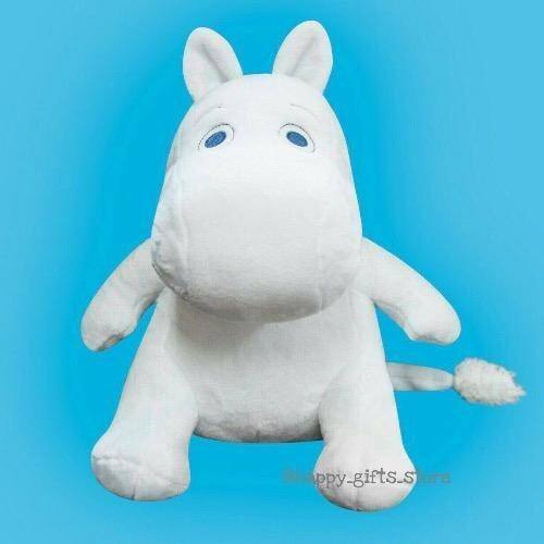Happy Gifts Store Moomin ตุ๊กตา มูมิน ขนาด 10 นิ้ว - ท่านั่ง (สีขาว) image