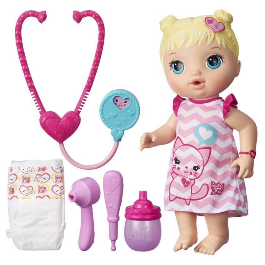 HASBRO BABY ALIVE BETTER NOW BABY ALIVEILEY LT SKIN ฮาสโบร เบบี้ อไลฟ์ ตุ๊กตาเด็ก เปลี่ยนผ้าอ้อมได้ เบตเตอร์ นาว เบบี้ ลิขสิทธิ์แท้ image