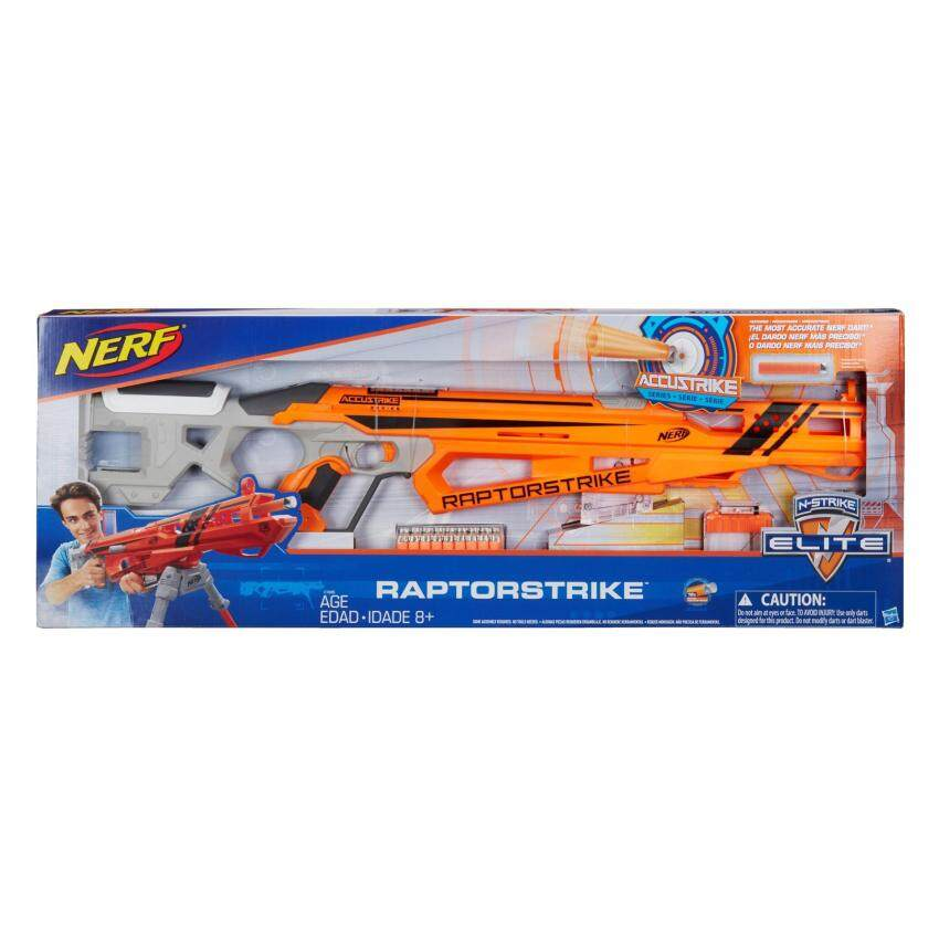 ขาย HASBRO NERF N-STRIKE ELITE ACCUSTRIKE RAPTORSTRIKE ฮาสโบร ปืนเนิร์ฟ แอคคูสไตรค์ แรปเตอร์สไตรค์ ลิขสิทธิ์แท้