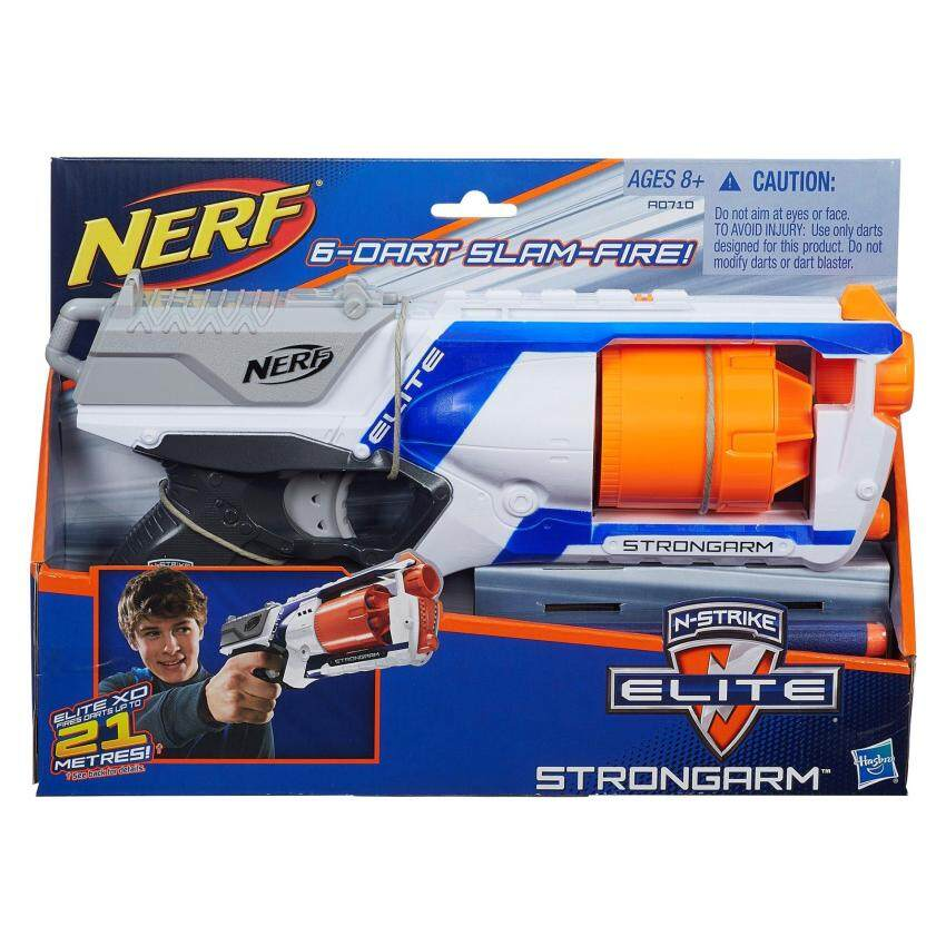 HASBRO NERF NSTRIKE ELITE STRONGARM BLASTER ฮาสโบร ปืนเนิร์ฟ เอ็นสไตรค์ อีลิท สตรองอาร์ม บลาสเตอร์ ลิขสิทธิ์แท้
