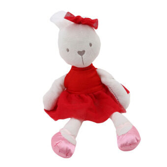 HengSong Rabbit Doll Hold Baby Comfort Baby To Accompany SleepPlush Toys Red