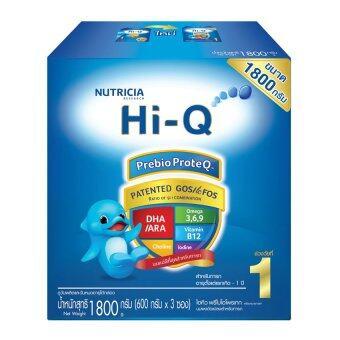 HI-Q ไฮคิว นมผง พรีไบโอโพรเทค ช่วงวัยที่ 1 รสจืด 1800 กรัม