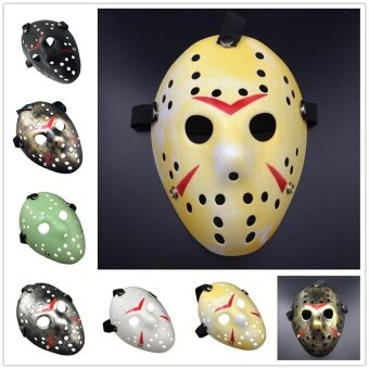 Holloween Halloween Horror Hockey Fancy Dress Helmet CostumeCosplay Killer Mask Prop - intl
