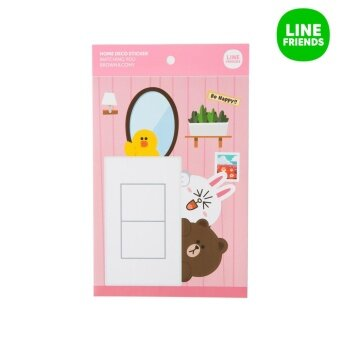 HOME DECO STICKER STICKER_WATCHING YOU_BROWN&CONY