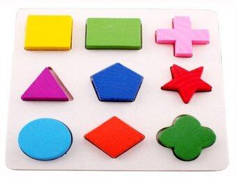 Home Shop ของเล่นเด็ก บอร์ดบล็อกไม้รูปทรงเรขาคณิต
