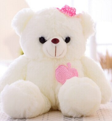 Hot Sale 38cm Colorful Glowing Teddy Bear Luminous Plush Toy Staffed Lovely Toy for Kids Girls Gift Kawaii Doll - intl