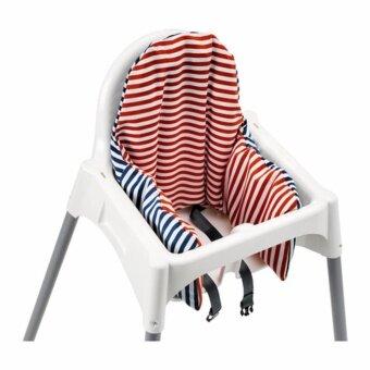 IKEA เก้าอี้อิเกีย + เบาะรองหลัง อันติลูป High Chair เก้าอี้ทานข้าวเด็กทรงสูง 0.6 - 4 ปี ขนาด 58*62*90 ซม. พร้อมเข็มขัดนิรภัย