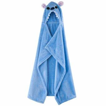 Harga Cute Cartoon Animal Design Soft Coral Velvet Cloak Blanket Bathrobe for Babies - intl