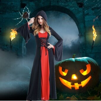 Harga Halloween Vampire Demon Cospaly Costume Dead Ghost Clothes Female Witch Masquerade Party Service Performance Clothing - intl