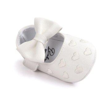 Harga Cute Baby Girl Shoes Peach Heart Enbroidery Shose Soft Soled Anti-slip Baby Shosewear - intl