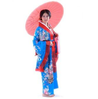 Harga Cosplay Japanese Traditional Silk Big Cuffs Kimono Bathrobes Costume Blue - intl (คอสเพลย์ / คอสตูม)