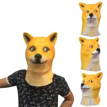 Harga Hot Sale Movie Hachi Dog Mask Latex Mask Animal Themed Party Costumed Mask - intl