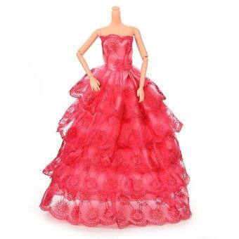 Harga Buytra Doll Long Dress Handmade Lace For Barbie Doll Rose