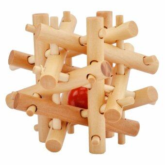 Harga Kong Ming Luban Lock Kids Adult Wooden Intellectual Puzzle Brain Tease Toy - intl