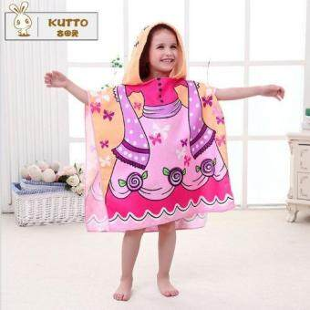 Harga B5M Kids Infant Baby Cartoon Animal Print Hooded Towel Bathrobe Bath Towel - intl