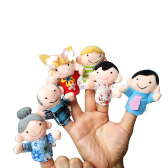 Harga Hand Toy Kawaii Cute Funny Unisex Gifts Family Finger Puppets Cloth Doll - Intl