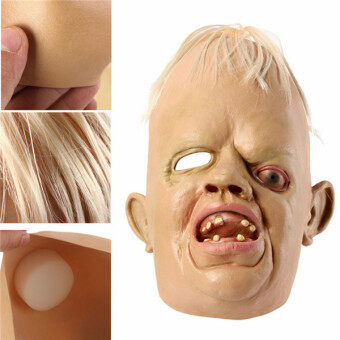 Harga New Best Price Monster Adult Latex Full Head Face Breathable Halloween Mask Fancy Dress Party Cosplay Costume Theater Toy