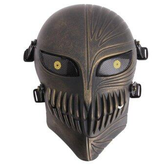 Harga LALANG Cosplay Death Mask Field CS Protective Mask Halloween Party Skeleton Mask (Antique Bronze)