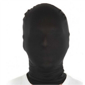 Harga MagiDeal Lycra Spandex Zentai Costume Fully Covered Mask/Hood Black