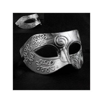 Harga Cool Adult Men Greek Roman Fighter Masquerade Face Mask for Fancy Dress Ball /Masked Ball /Halloween (Silver) - intl