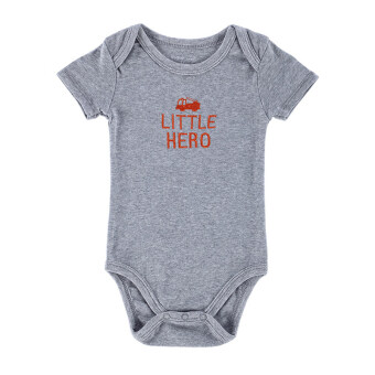 Harga Baby Boy Bodysuit Jumpers 100% Cotton Baby Boy Kids Infant Toddlers Rompers-gray