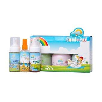 Harga Good mood Shampoo and Body Foam Wash Gift Set 3 Bottles + Swimming Set 3 Bottles