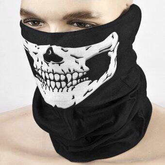 Harga JinGle Halloween Skeleton Ghost Skull Face Mask Cosplay Balaclava Costume (Black)