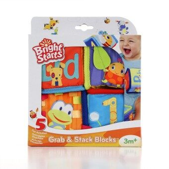 Harga smartbabyandkid บล็อคผ้า Bright Starts Grab & Stack Blocks
