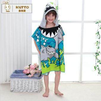 Harga Kids Infant Baby Cartoon Animal Print Hooded Towel Bathrobe Bath Towel - intl