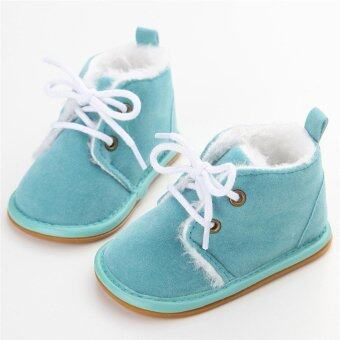 Harga HengSong Infant Toddler Boy Girls Baby Crib Boots Newborn Slip-On Soft Sole Shoes Warm SkyBlue - intl
