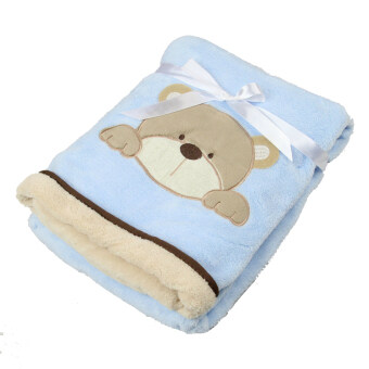 Harga Cartoon Bear Baby Blanket Blue