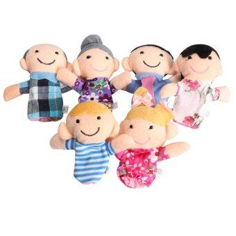 Harga Family Finger Puppets Cloth Doll (Multicolor)