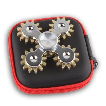 Harga New Hand Spinner Fidget Spinner Brass Gears Material Stainless Steel 9 Gear Linkage And 5 Gears Linkage EDC Toys - intl