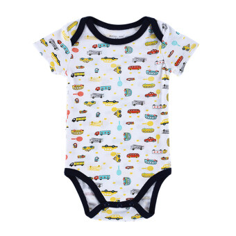 Harga Baby Boy Bodysuit Jumpers 100% Cotton Baby Boy Kids Infant Toddlers Rompers-Colorful car