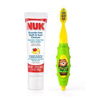 Harga NUK Toddler Tooth and Gum Cleanser with 1.4 Ounce Toothpaste, Colors May Vary