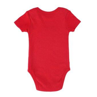 Harga Baby Boy Bodysuit Jumpers 100% Cotton Baby Boy Kids Infant Toddlers Rompers-red