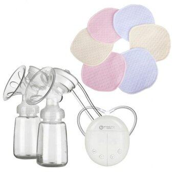 Harga MagiDeal Handfree Double Intelligent Microcomputer Breastpump+Washable Breast Pads - intl