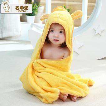Harga Baby Infant Todder Cartoon Bear Cotton Bath Hooded Towel Bathrobe 90*90cm - intl