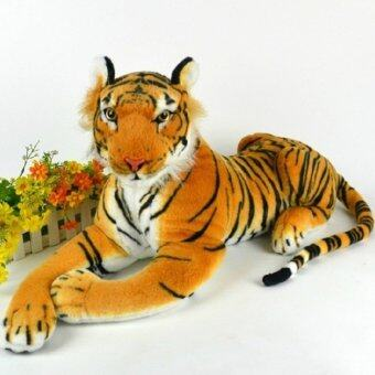 Harga Black Horse Lifelike Tiger Plush Animal Doll Children Kids Simulation Stuffed Toy Doll New
