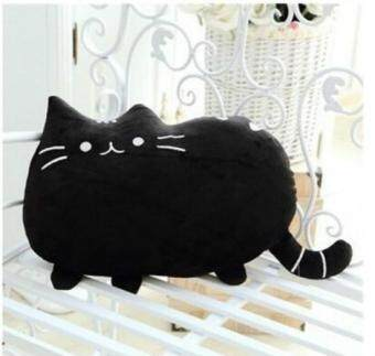 Harga Creative Cat Plush Gift Cute Big Tail Fat Cat Doll Pillow - Black - intl