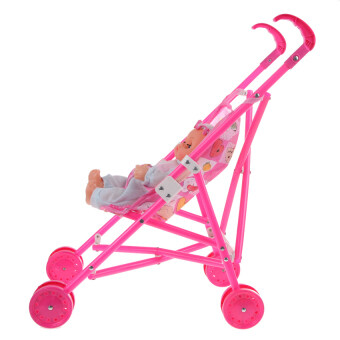 Harga Lemon Dolls Buggy Stroller Pushchair Pram Foldable Girls Toy Doll Prambaby Doll - intl