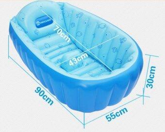 Inhand อ่างอาบน้ำเป่าลม (สีชมพู) แถมฟรี Air Pump + Repair Kit - 5
