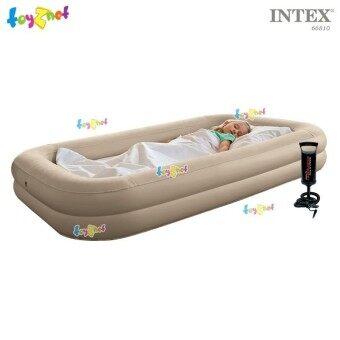 Intex ที่นอน เด็ก เป่าลม แค้มป์ แคมป์ปิ้ง ปิคนิค 107x168x25 ซม.พร้อมที่สูบลมดับเบิ้ลควิ๊ก วัน และถุงผ้า Intex รุ่น 66810